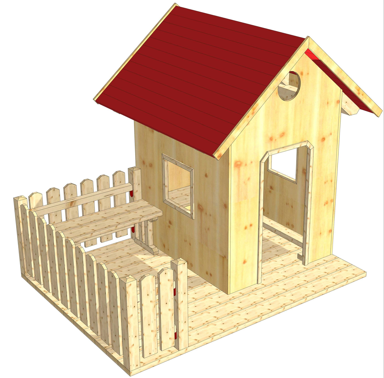 Spielhaus mit Veranda